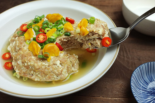 鹹蛋蒸肉餅(電鍋)