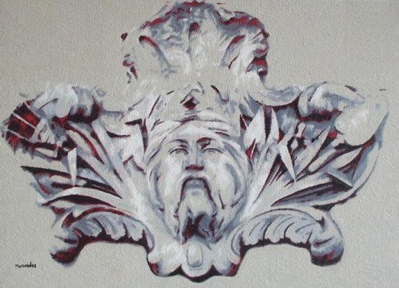 Inspiré d'un mascaron de Neptune (Bordeaux, France)