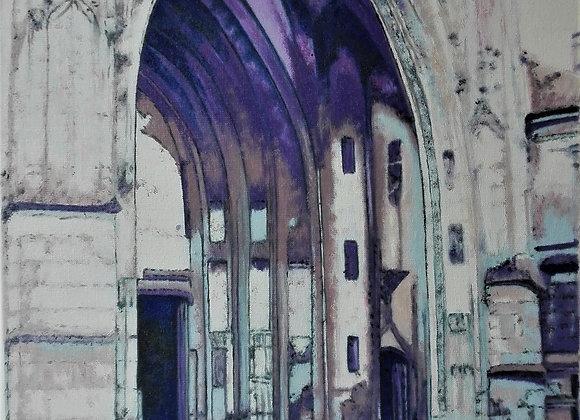 Parvis de la basilique Notre Dame