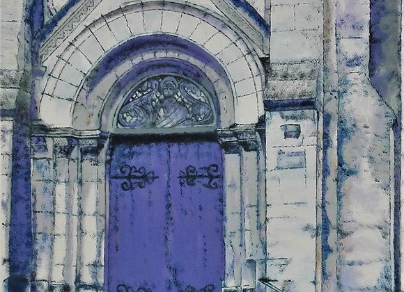 Parvis de l'église St Pierre de Monsort