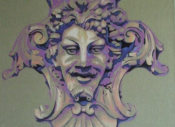Inspiré d'un mascaron de Bacchus (Strasbourg, France)