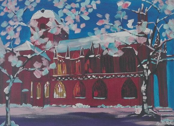 Notre Dame, sous la neige