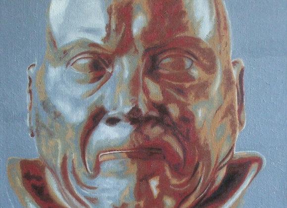 Inspiré de l'« Homme souffrant de constipation » de Messerschmidt