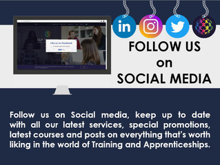 Follow us on social media to keep up to date with news and new courses during these extrodinary t