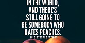I'm not a peach