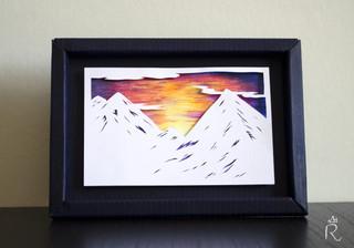 Montagne au crépuscule