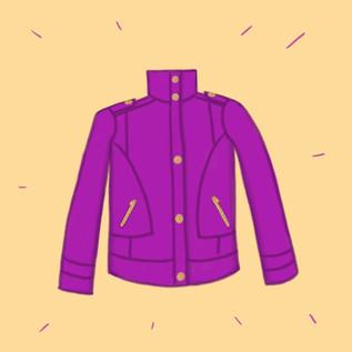 manteau violet