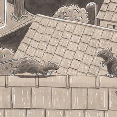 """Inktober 18 """"rats"""""""
