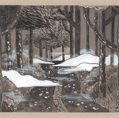 """Inktober 25 """"forêt noire"""""""