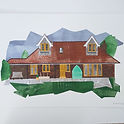 Collage illustration of a house copyright Ruth Waters