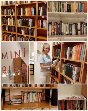 Boeken boeken en nog meer boeken in onze minibieb