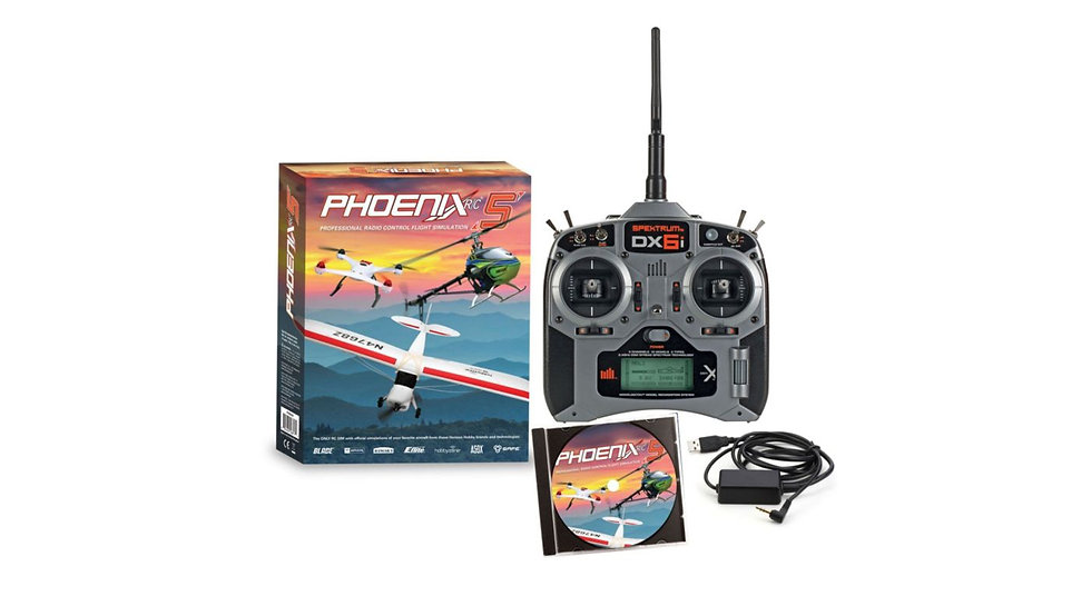 Phoenix R/C Pro Simulator V5.5 with DX6i Bundle