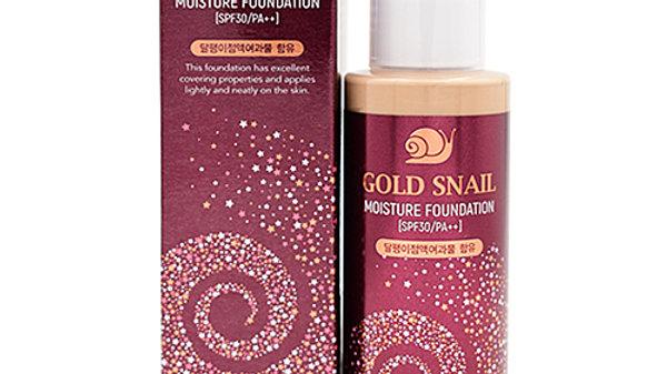 Enough Крем тональный с муцином улитки 21тон - Gold snail moisture foundation SP
