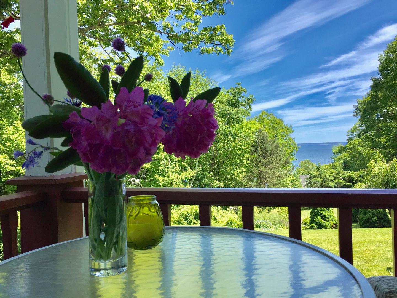 Flowers on the veranda