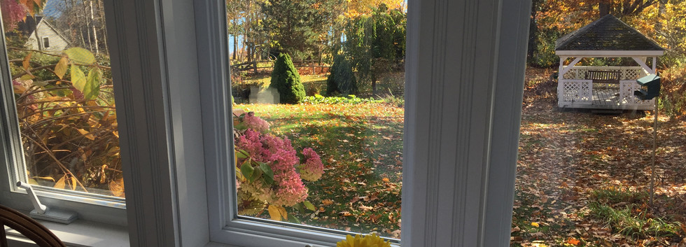 breakfast view in the fall
