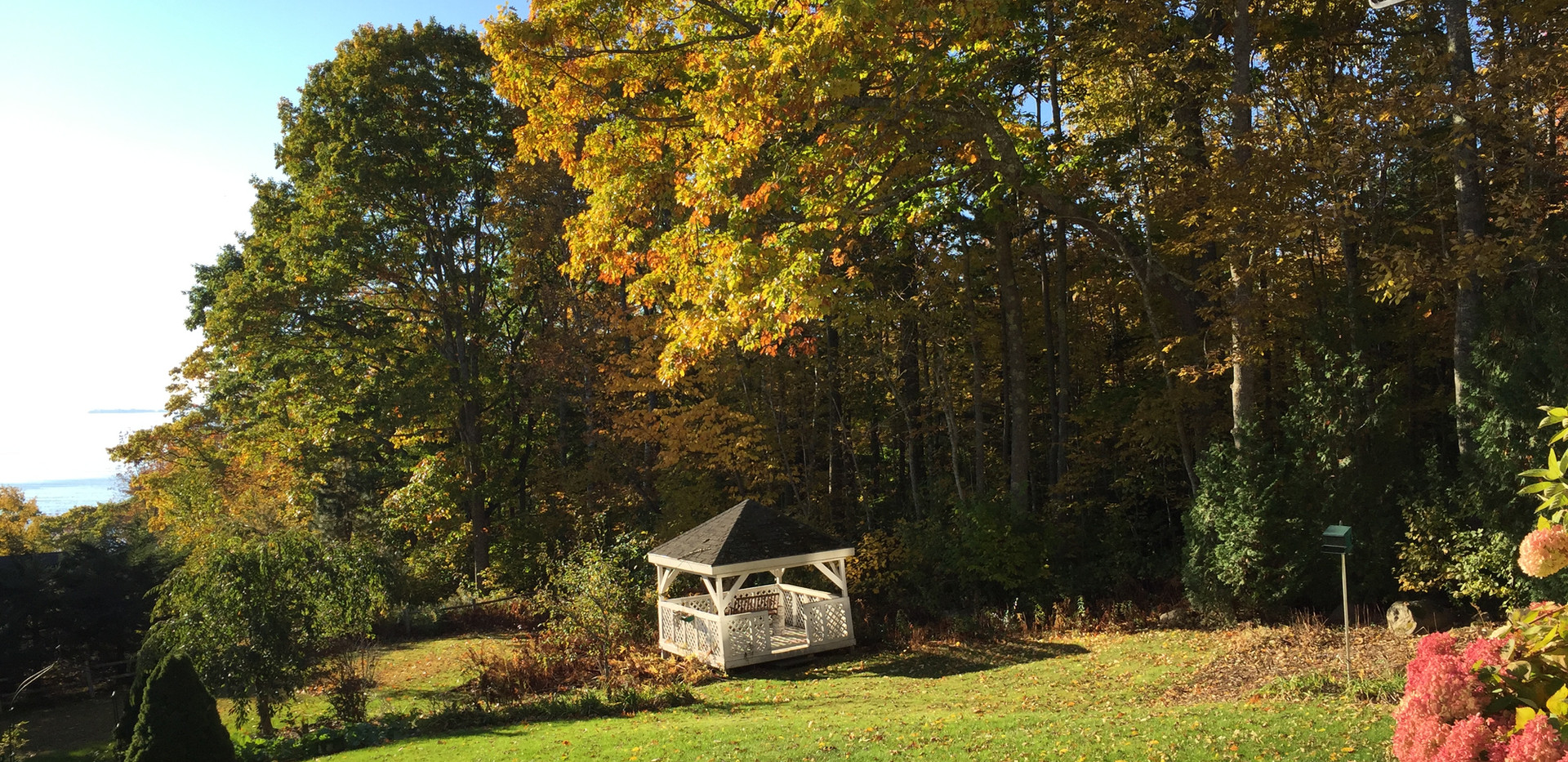 gazebo in the fall