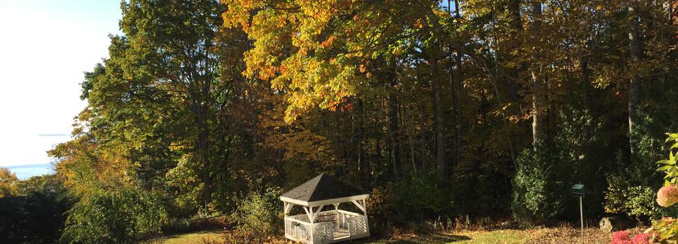 gazebo in the fall