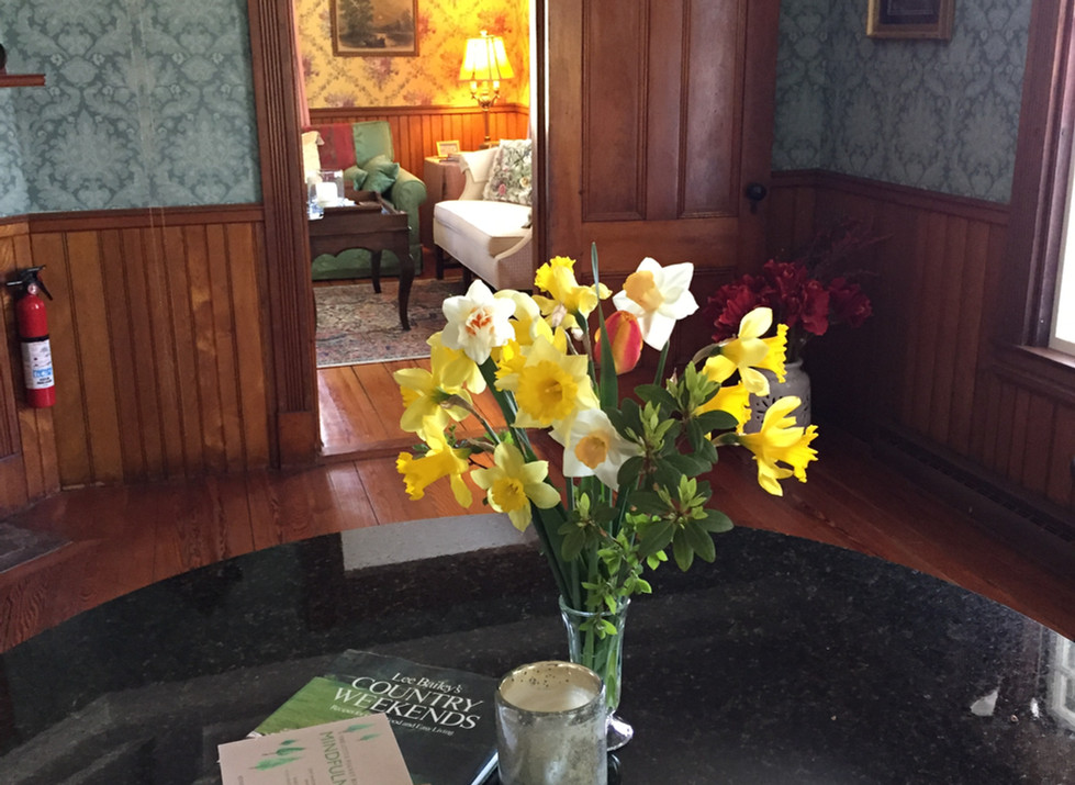 flowers in the parlor