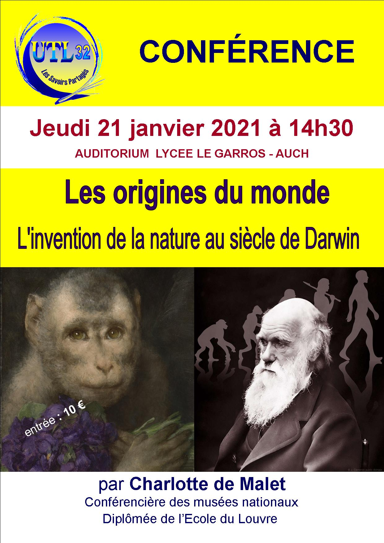 L'invention de la Nature au siècle de   DARWIN