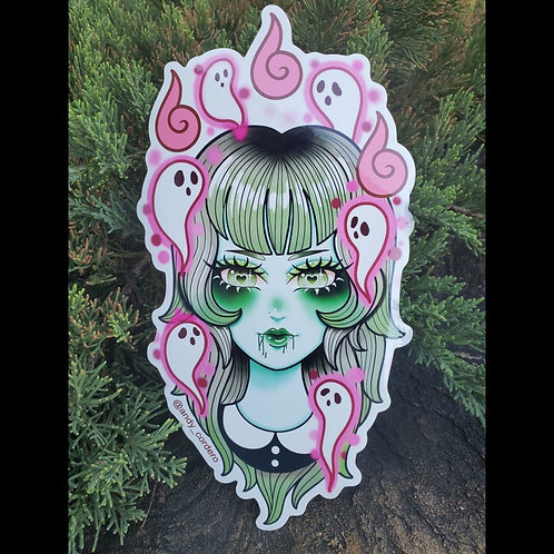 Ghost girl Sticker by Andy Cordero