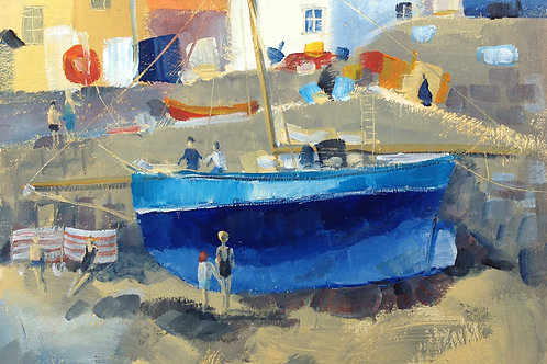St Mawes, the Blue Boat