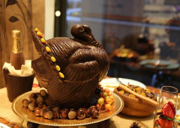 A Thanksgiving turkey at Li-Lac Chocolates. Photos by Tequila Minsky.