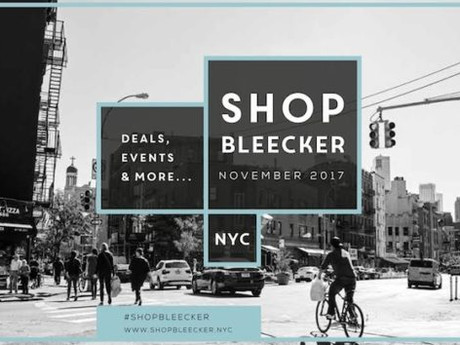 Shop Bleecker Street on November 18th   Aiming to Halt the Proliferation of Vacant Storefronts on St