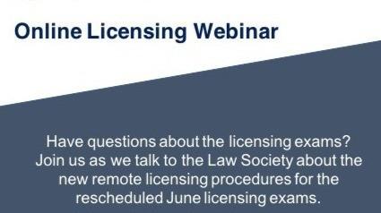 Recording of LSSO Licensing Webinar:(June 17, 2020)