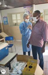 Vacinação na Comunidade Quilombola Furnas da Boa Sorte