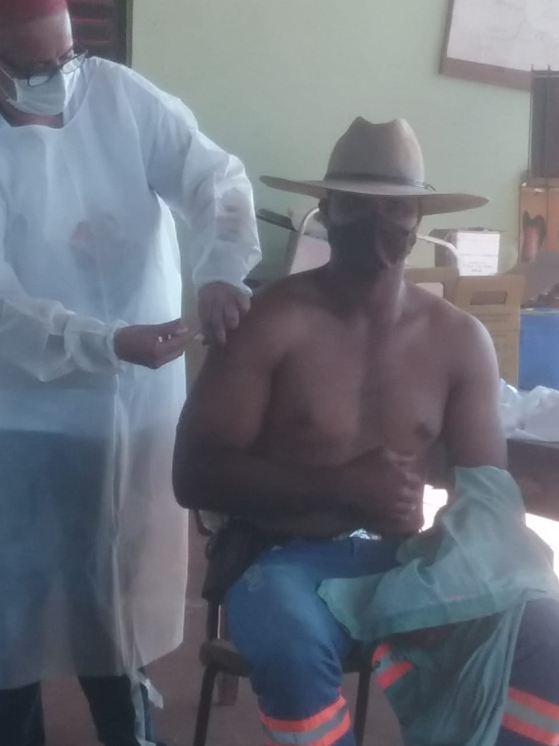 Vacinação na Comunidade Quilombola São Miguel