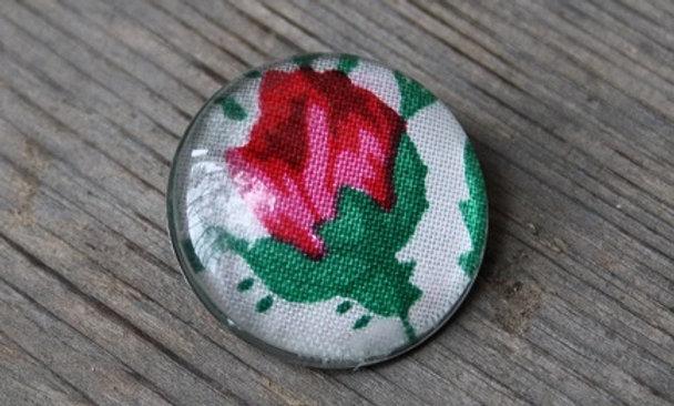 BROSCH 30mm rosa rosknopp