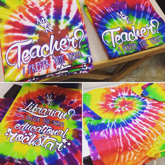 Custom made tie dye shirts for McKitrick