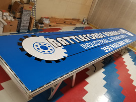 Backlit sign for Battlefords Bearing LTD
