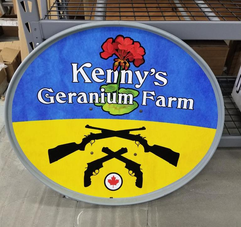Satellite dish for Kennys Geranium Farms