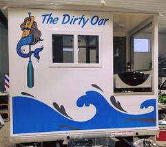 Pontoon boat, The Dirty Oar, back side.j