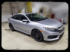 2017 Honda Civic has Hood, Bumper, Fende