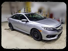 2017 Honda Civic has Hood, Bumper, Fende