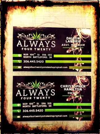 Always Four Twenty bussines cards.jpg