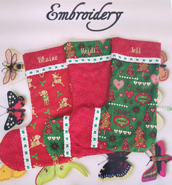 The stockings were hung by the chimney w