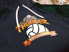 New team clothing for Thunder Volleyball