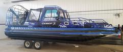 Digital blue camo wrap done for a hoverc