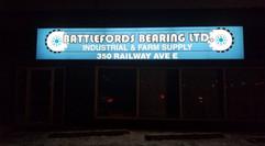 Backlit sign installed for Battlefords B