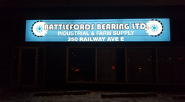 Backlit sign installed for Battlefords B