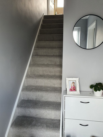 Completed hall and stairs