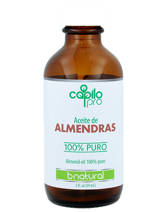 Aceite puro almendra 2 oz. / Capilo Pro