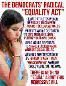 """The """"Equality Act"""" is blatantly unconstitutional. It is a clear violation of the First Amendment. The danger here is the highly polarized ultra liberal judges. Will they recognize the obvious attack on religion and free speech or will they legislate from the bench?"""