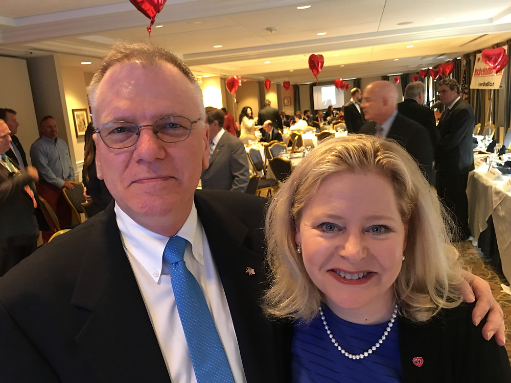 Center for Garden State Families President Gregory Quinlan with Faith2Action founder and mastermind behind the Heartbeat bill Janet Folger Porter at the Heartbill Congressional Banquet July 24.