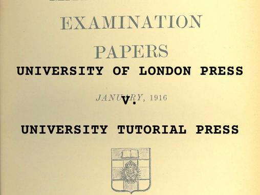 University of London Press v. University Tutorial Press