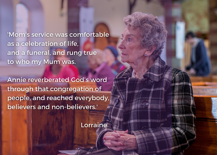 'Mom's service was comfortable as a celebration of life, and a funeral, that rung true to