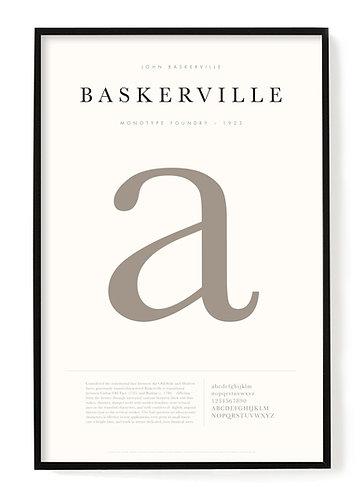 Baskerville Poster  24  x 36
